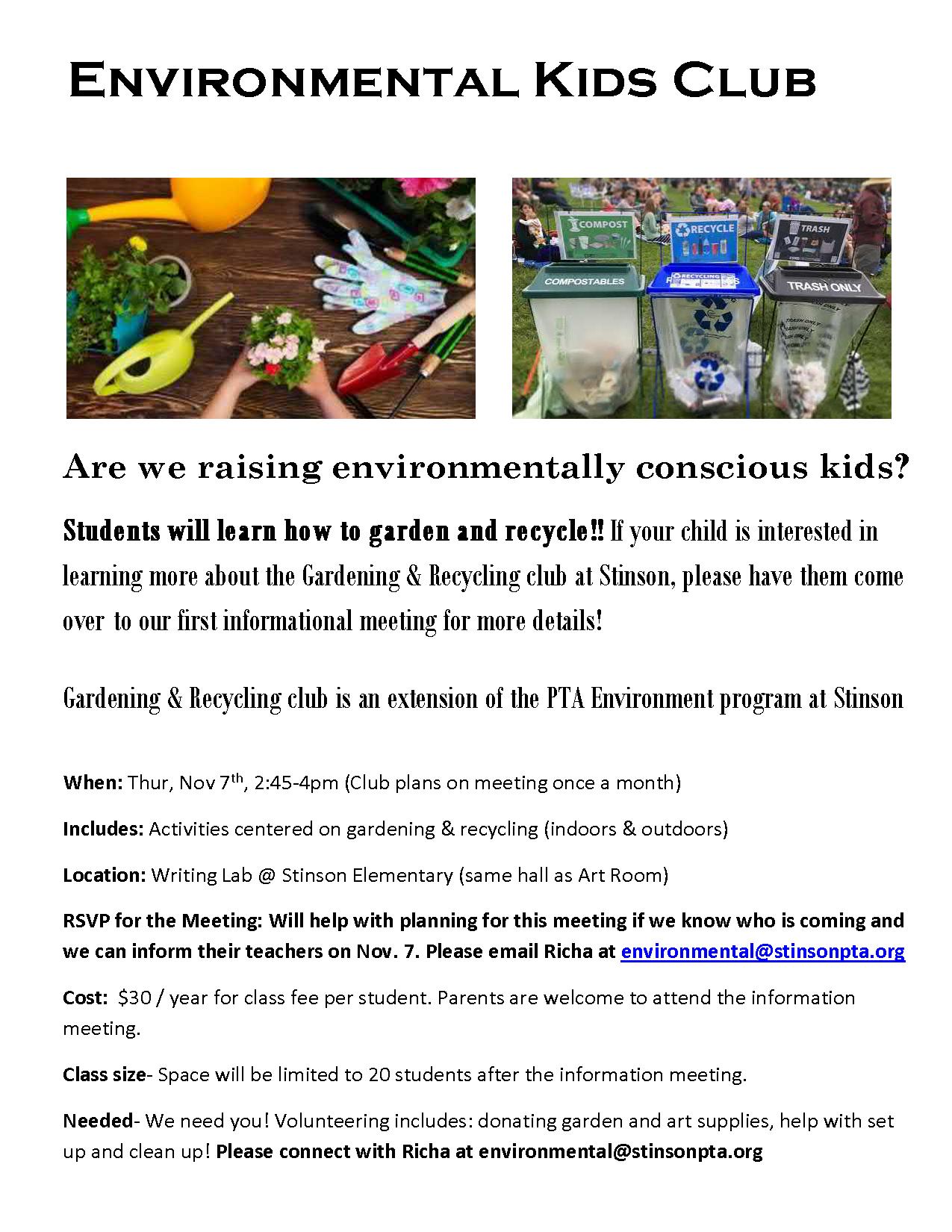 Environmental Club Flyer